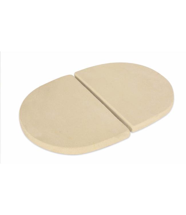 PrimoGrill Keramische Reflectorstenen (D-Plates) Ovaal Large 300
