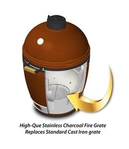 High-Que Kolen rooster voor de Kamado Joe Classic gemaakt van RVS.