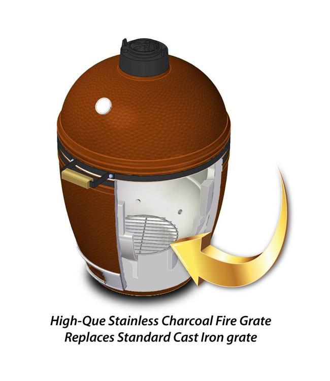 High-Que Kolen rooster voor de Kamado Joe BigJoe gemaakt van RVS.