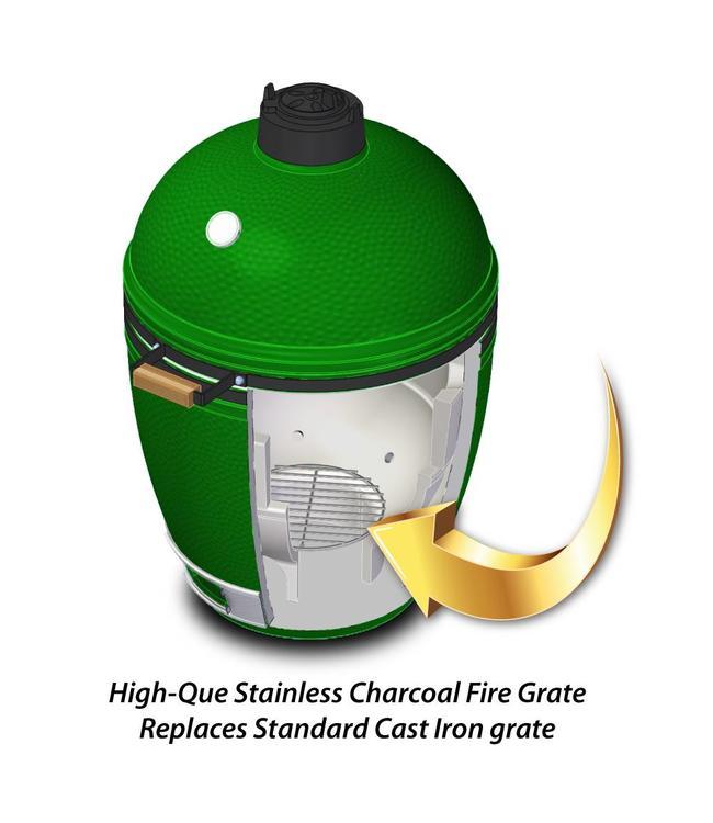 High-Que Kolen rooster voor de Big Green Egg Medium gemaakt van RVS..