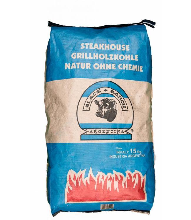 Black Ranch Quebracho Houtskool zak 15 Kg