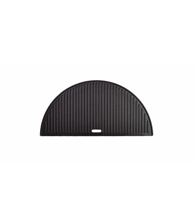 Kamado Joe Big Joe Tweezijdig gietijzeren grillplaat (Half Moon Cast Iron Reversible Griddle)