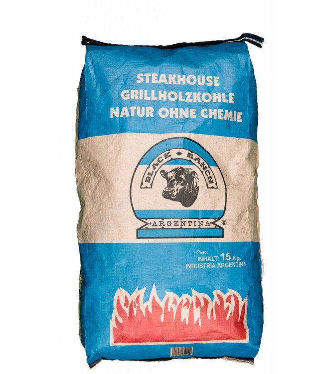 Black Ranch Quebracho Houtskool zak 15 Kg AFHALEN MAGAZIJN