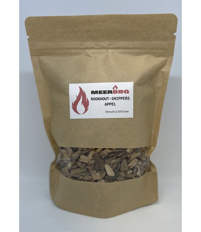Meerbarbecue Rookhout Snippers Appel Zak 250 gr / 800ml