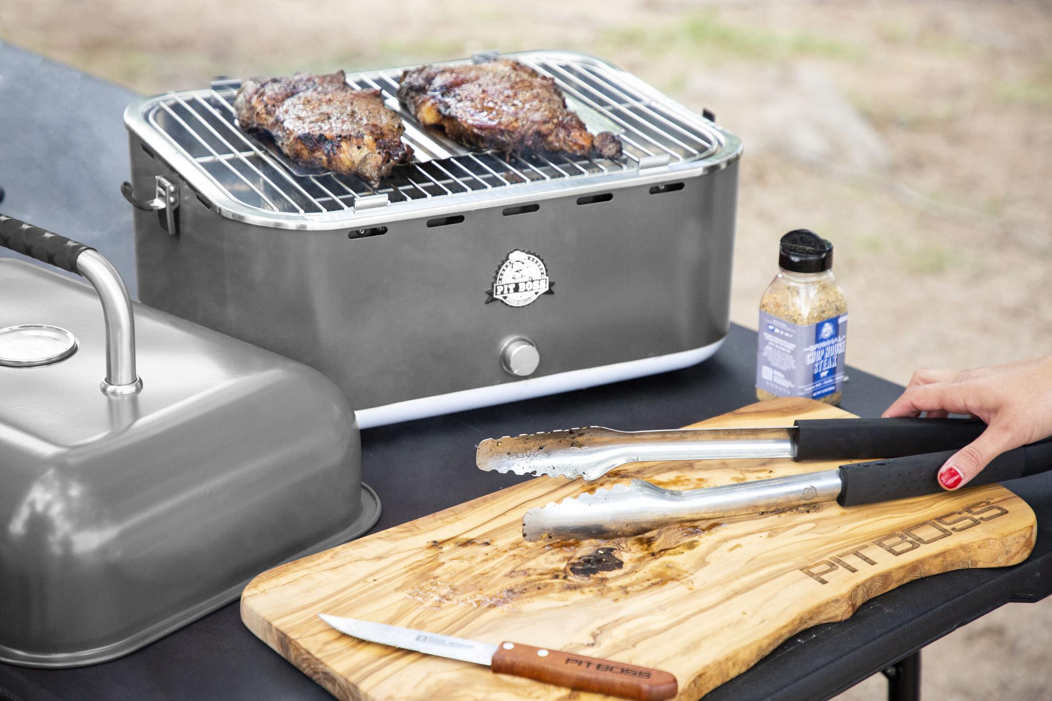 Meerbarbecue draagbare houtskool grill