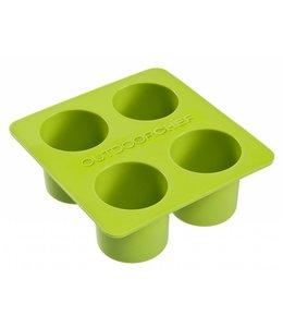 Siliconen bakvorm cylindervorm klein