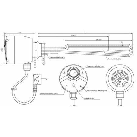 TechniQ Energy Elektrisch verwarmingselement 3kW