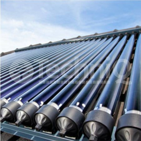 TechniQ Energy 18 heatpipes vacuümbuis zonneboiler collector, inclusief plat of schuin dak constructie