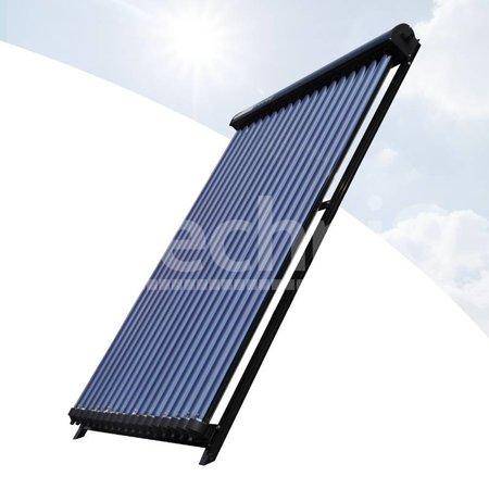 TechniQ Energy 24 heatpipes vacuümbuis zonneboiler collector, inclusief plat of schuin dak constructie