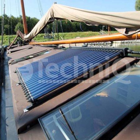 24 heatpipes vacuümbuis zonneboiler collector, inclusief plat of schuin dak constructie