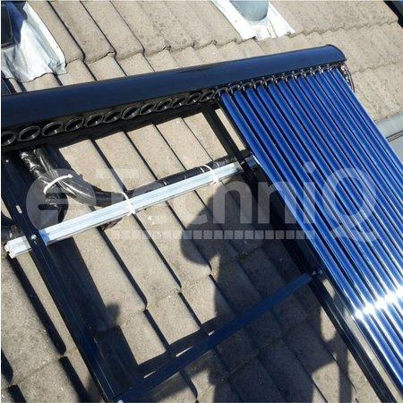 30 heatpipes vacuümbuis zonneboiler collector, inclusief plat of schuin dak constructie