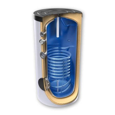 Boilervat Tesy 200 liter, indirect gestookt, met 1 warmtewisselaar