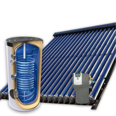 TechniQ Energy 300L zonneboiler set (36HP) met (vloer)verwarming- en tapwaterondersteuning