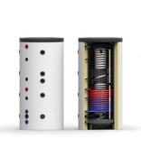 Buffervat 1000 liter Multi Energy met 1 wisselaar - Made in Germany