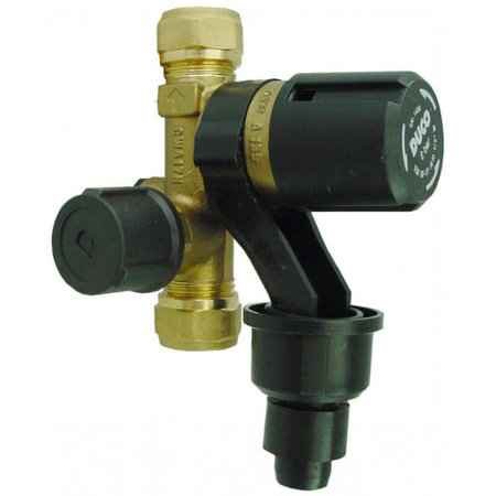 DUCO tapwater inlaatcombinatie DN 15 - 6 bar -  15 mm knelkoppelingen
