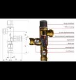 Duco DUCO thermostatisch mengventiel DN15 15 mm knelkoppelinen