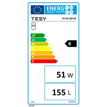 Boilervat 160 liter, indirect gestookt, met 1 warmtewisselaar (Tesy)