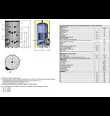 Boilervat 150 liter, indirect gestookt, met 1 warmtewisselaar van Eldom