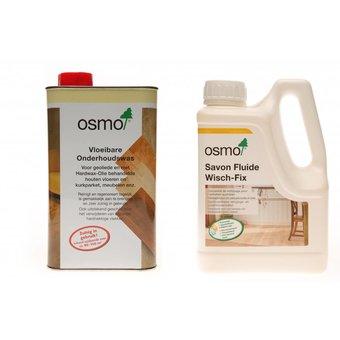 Osmo Actiepakket 4 = 1 Onderhoudswas 3087 Wit + 1 Wisch Fix 8016