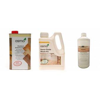 Osmo Actiepakket 2 = 1 Onderhoudswas 3029 + 1 Wisch Fix 8016 + 1 Eco Multi Cleaner