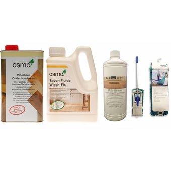 Osmo Actiepakket 3 = 1 Onderhoudswas 3029 + 1 Wisch Fix 8016 + 1 Eco Multi Cleaner + 1 Opti Set