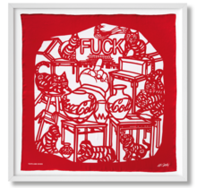 Ai Weiwei. The Silk Scarf 'Cats and Dogs' Edition of 2,500