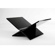 Boekenstandaard Perspex Middel Design Zwart