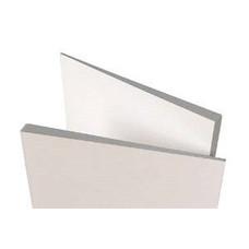 Superwand driehoek plaat met een verloop van 3 mm naar 20 mm dik.