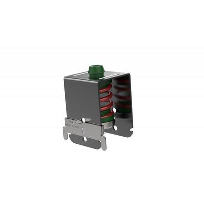 No-decibel SE-6025 V / MDS groene plafonddemper, M6. Met rode veer.