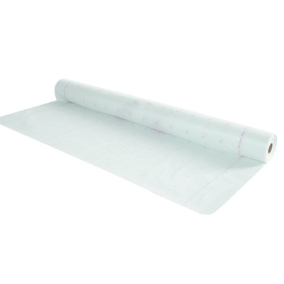 Klimaat folie   SD variabele dampregulerende folie 0.2 - 10 m, met gaas. 100 g / m², wit, 1.50 m x 50 m.