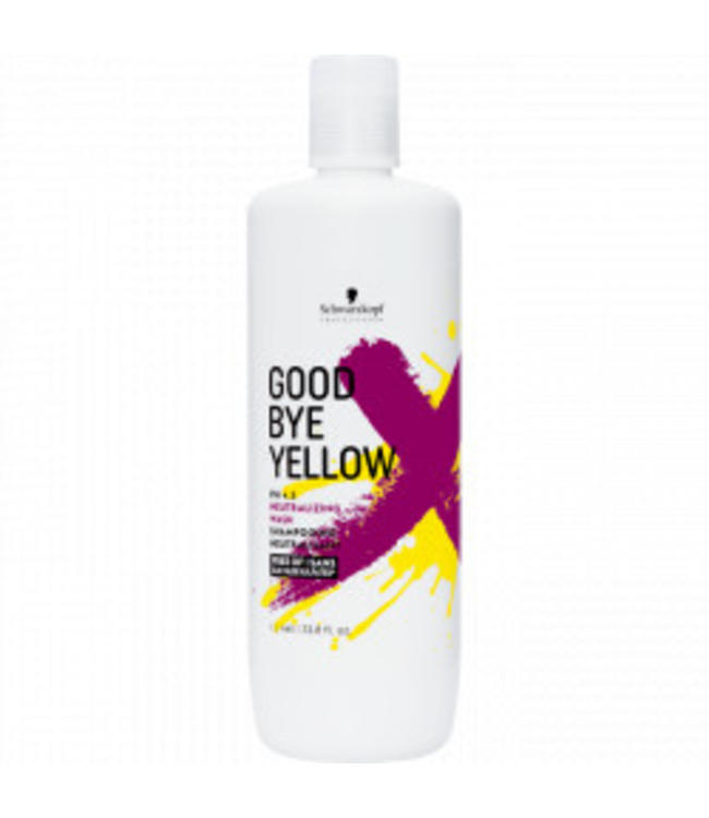Schwarzkopf Good Bye Yellow PH 4.5 Neutralizing Wash Shampooing Neutralisant 1000ml