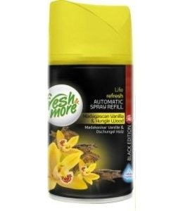 Fresh & More Luchtverfrisser Madagascan Vanilla & Jungle Wood Black Edition 250ml