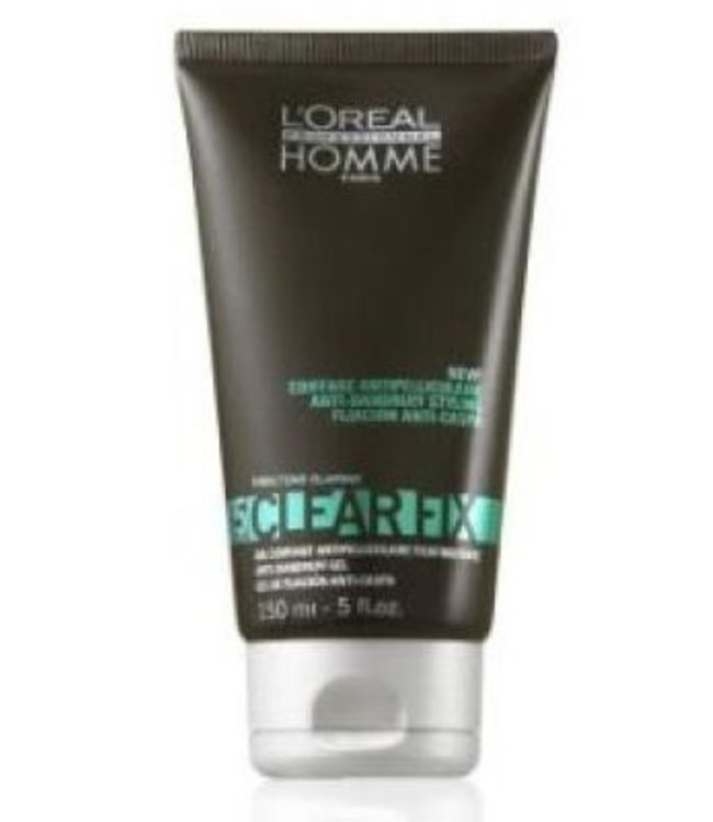 L'Oréal Homme Clear Fix Anti-Roos Styling Gel  150ml