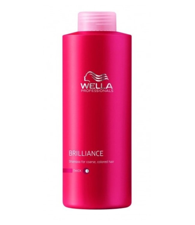 Wella Brilliance Shampoo Dik Haar 1000ml