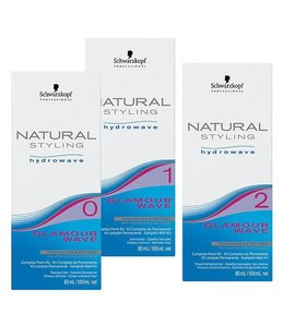 Schwarzkopf Natural Styling Hydrowave Glamour Wave Kit 2 180ml
