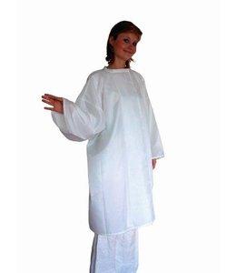Nebur Kapmantel met mouw 1006 wit