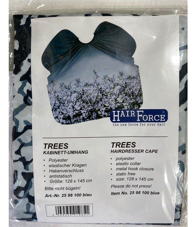 Hair Force Kapmantel met haaksluiting Trees