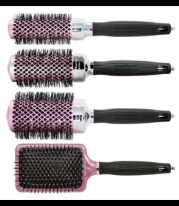 Olivia Garden Think Pink Editie 2019 - Fohnborstel NanoThermic Kit