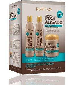 KATIVA Keratina Tratamiento Shampoo 250 ml + Conditioner 250 ml + Mask 250ml
