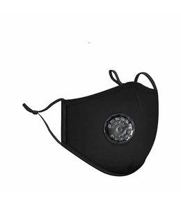Zwarte Classic Face Mask Wasbaar Mondkapje MET FILTER