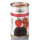 Tomaat met zwarte truffel saus