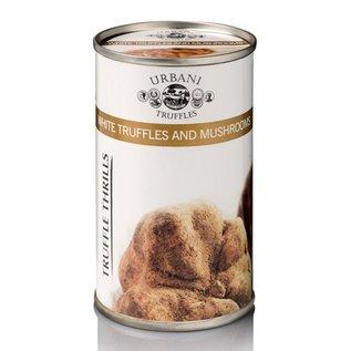 Witte truffel met champignons saus