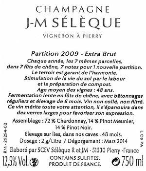 J-M Sélèque Partition 2009 MAGNUM