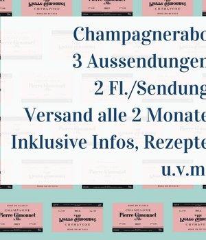 Champagner Abo 3 Aussendungen mit je 2 Flaschen