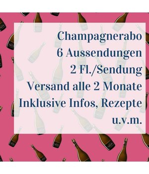 Champagner Abo 6 shipments with two bottles