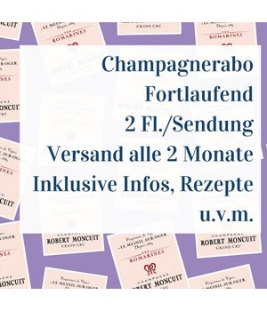 Champagner Abo Fortlaufend - 2 Flaschen pro Sendung