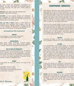 Infokarte Champagner Verkosten