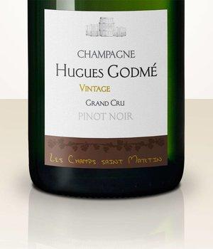 Hugues Godmé Les Champs Saint Martin Pinot Noir Grand Cru Extra Brut 2009
