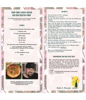 Rezeptkarte Mini-Sake-Lauch-Quiche