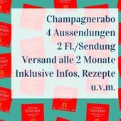 Champagner Abo 4 Aussendungen mit je 2 Flaschen